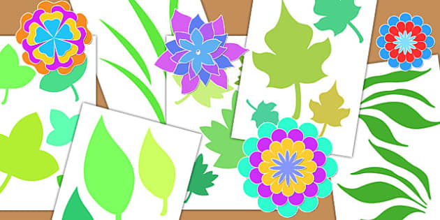 Botanical Craft Cut Out Shapes - crafts, cutting skills, cutouts