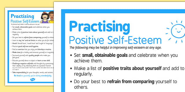 Practising Positive Self Esteem - practising, self-esteem, positive