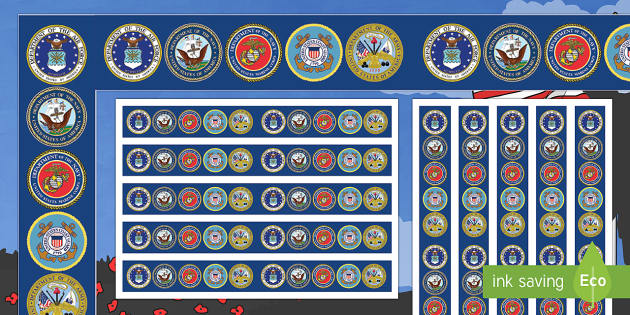 USA Veterans Day Display Borders