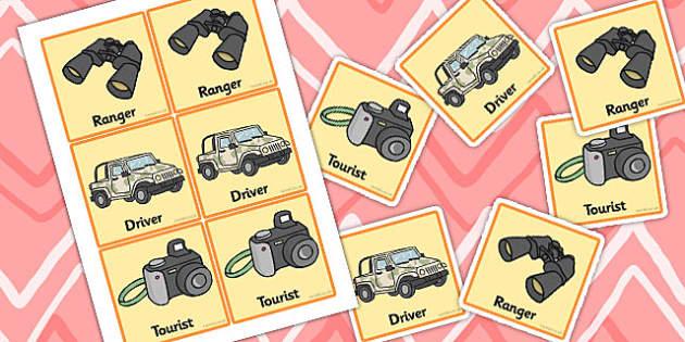 African Safari Role Play Badges - African, Safari, badges, role play, Safari role play, lion, cheetah, puma, jaguar, rhino, hippo, elephant, giraffe, antelope