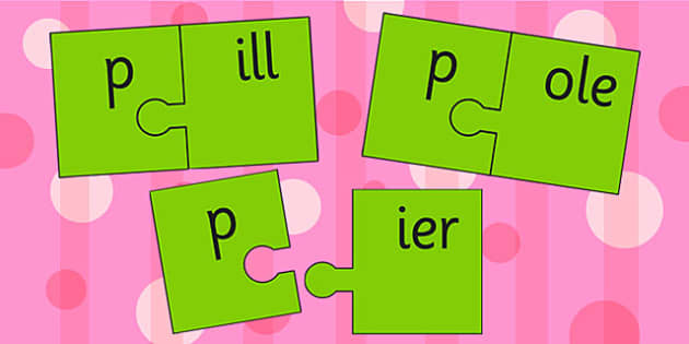 p And Vowel Production Jigsaw Cut Outs - p, vowel, jigsaw, sounds