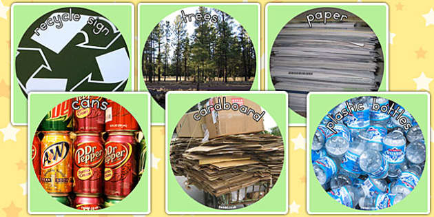 Recycling Display Photo Cut Outs - recycling, photos, displays