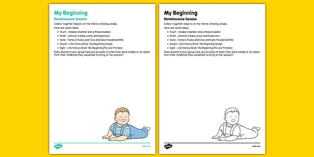 Elderly Care Life History Book My Beginnings Reminiscence Session - Elderly, Reminiscence, Care Homes, Life History Books