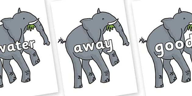 Next 200 Common Words on Trunky The Elephant to Support Teaching on The Enormous Crocodile - Next 200 Common Words on  - DfES Letters and Sounds, Letters and Sounds, Letters and sounds words, Common words, 200 common words