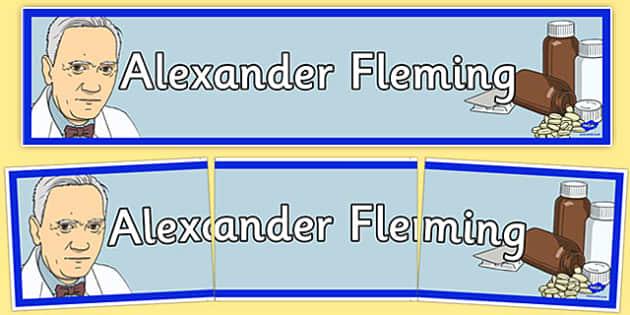 Sir Alexander Fleming Display Banner - sir alexander fleming, display banner, display, banner