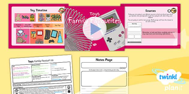 PlanIt - History KS1 - Toys Lesson 2: Family Favourites Lesson Pack