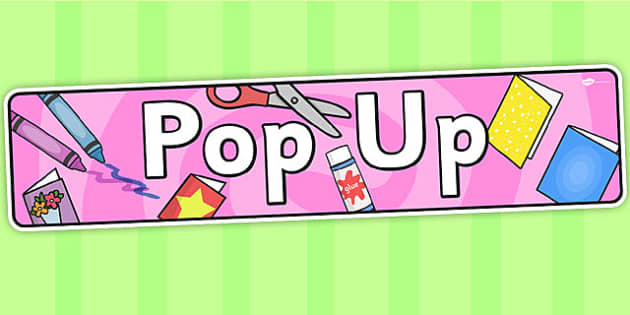 Pop Up Themed Banner - header, display, , banner