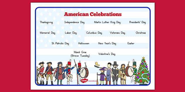 American Celebrations Word Mat - usa, america, american celebrations, celebrations, word mat