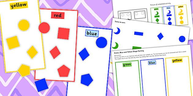 Colour Sorting Activity Set 3 - colour, sorting, activity, set, 3