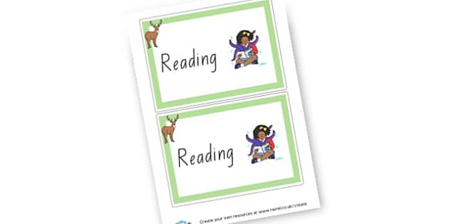 Home Reading Cover - Reading Area Primary Resources, signs, area, zones, banner, poster
