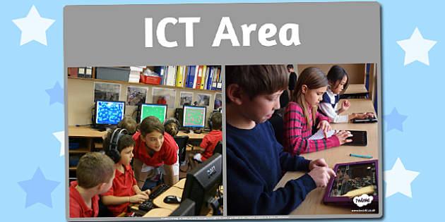 ICT Area Photo Sign - ict, area, photo, display sign, display