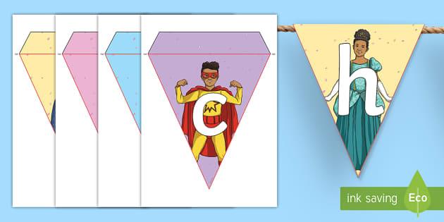 Fasching Fahnengirlande für die Klassenraumgestaltung - Fasching Fahnengirlande für die Klassenraumgestaltung