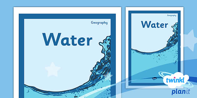 PlanIt - Geography Year 4 - Water Unit Book Cover - planit, book cover, year 4, geography, water
