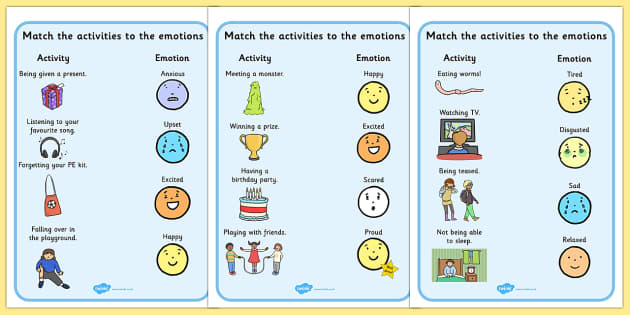 Emotions Activity Worksheets - activities, worksheet, feelings