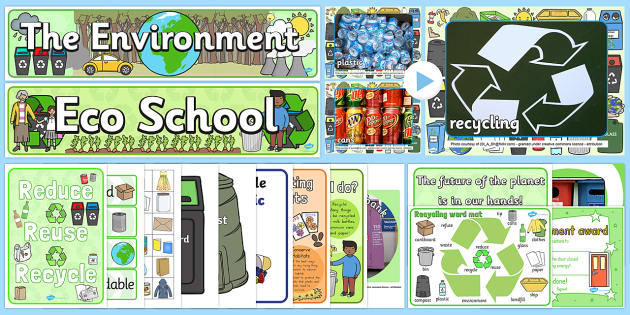 Environment Resource Pack - environment, nature, world, earth, eco, eco-school, planet, reduce, reuse, recycle