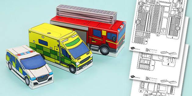 People Who Help Us Paper Model Pack - pack, model, help, us