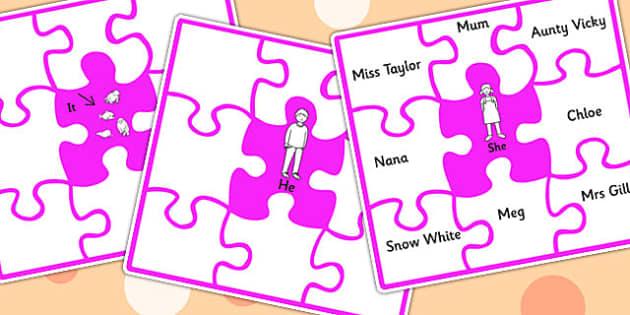 Match The Pronoun To A Person Jigsaw - SEN, SEN games, pronouns