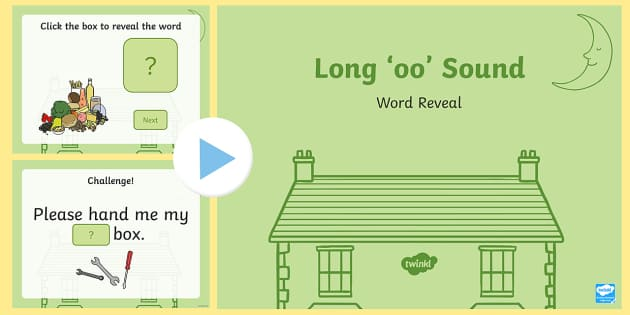 Long 'oo' Sound Word Reveal PowerPoint - Requests KS1, phonics, reading, literacy, ppt, powerpoint, slideshow, iwb