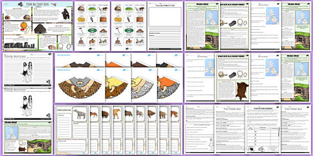 Stone Age Lesson Activity Resource Pack - stone age, resource