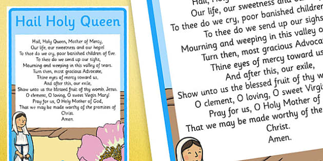Hail Holy Queen A4 Display Poster-Irish