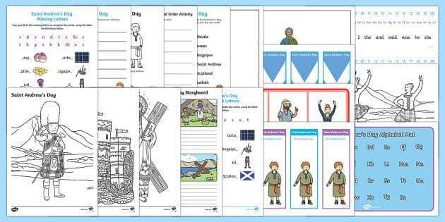 KS1 Saint Andrew's Day  Activity Pack