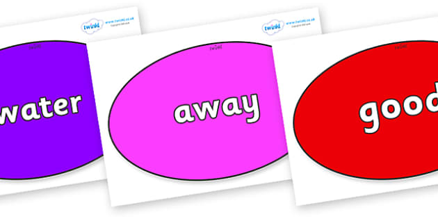 Next 200 Common Words on Ovals - Next 200 Common Words on  - DfES Letters and Sounds, Letters and Sounds, Letters and sounds words, Common words, 200 common words