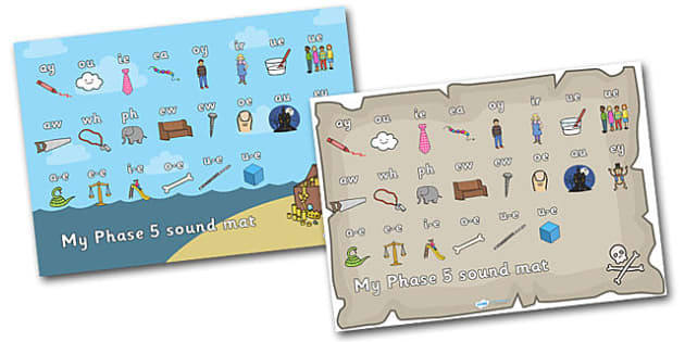 Pirate Themed Sound Mat Phase 5 - sound mat, sounds, pirate sound mat, phase 3 sound mat, letters and sounds, phase 3, phase 3 mat, phonic sounds, phonics