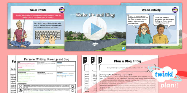 PlanIt Y6 Explorers: Dreams and Anders Arnfield Lesson Pack Personal Writing (2) - Explorers: Dreams & Anders Arnfield, social media, tweet, blog, plan, dreams, personal writing, The