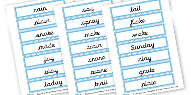 ai Phoneme Cards - Display Phonemes Primary Resources, Display, Letters, Words