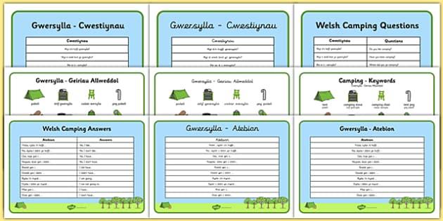 Welsh Camping Vocabulary Pack - welsh, cymraeg, Gwersylla, chwarae r