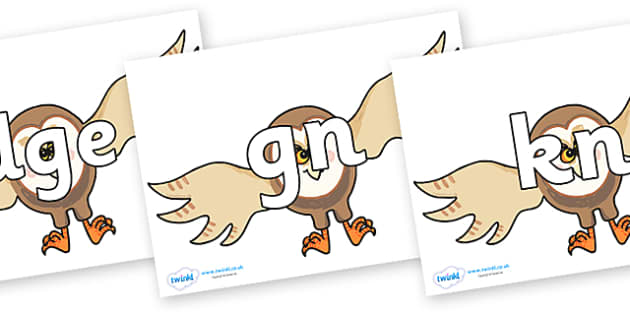 Silent Letters on Hullabaloo Owl to Support Teaching on Farmyard Hullabaloo - Silent Letters, silent letter, letter blend, consonant, consonants, digraph, trigraph, A-Z letters, literacy, alphabet, letters, alternative sounds