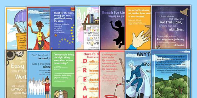 Motivational Posters Pack Polish Translation - polish, motivational, posters, display, pack