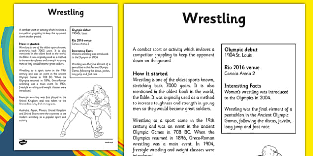 The Olympics Wrestling Fact Sheet - the olympics, rio olympics, 2016 olympics, rio 2016, wrestling, fact sheet