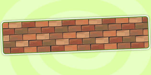 Editable Banner Brick Wall - editable banner, editable, banner, brick wall, brick wall banner, brick banner, wall banner, display banner, header, display