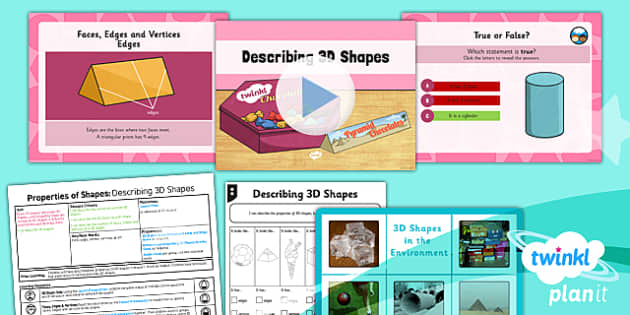 PlanIt Y3 Properties of Shape Lesson Pack Shapes (2) - PlanIt, Properties of Shapes, 3D shapes, geometry