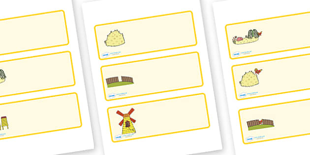 Editable Drawer Peg Name Labels to Support Teaching on Rosie's Walk - Rosie's Walk, story, Pat Hutchins, book, resources,  Resource Labels, Name Labels, Editable Labels, Drawer Labels, story book, story resources, Coat Peg Labels