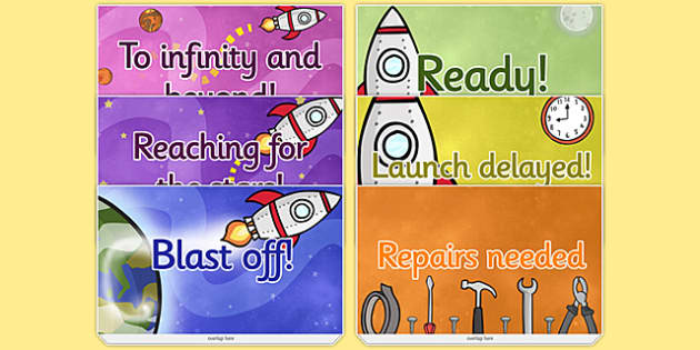 Space Themed Progress Reward Chart - space, reward, progress