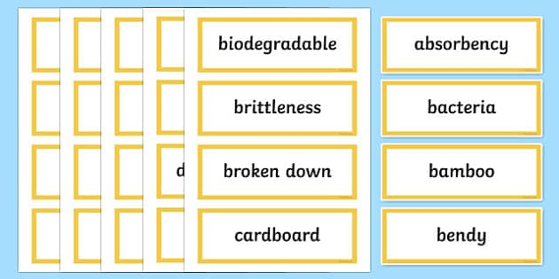 Material World Word Wall Display Cards - australia, Australian Curriculum, Material World, science, Year 4, word wall, display