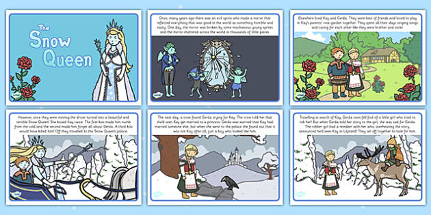 The Snow Queen Story - the snow queen, story, story book, snow queen, snow, queen, winter, cold