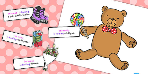 Teddy Holding Sentence Activity - sentence, activity, teddy