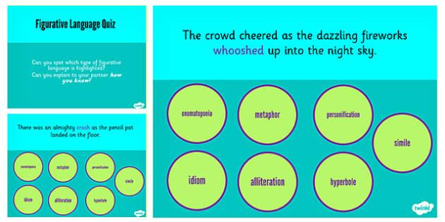 Discuss Evaluate Author Figurative Language Interactive Quiz