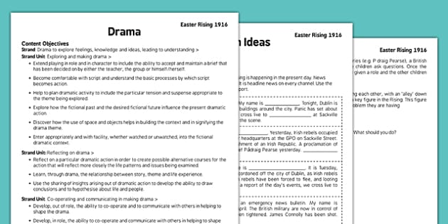 1916 Rising Drama Pack - Easter 1916 Rising, irish history, teacher material, drama script, news broadcast