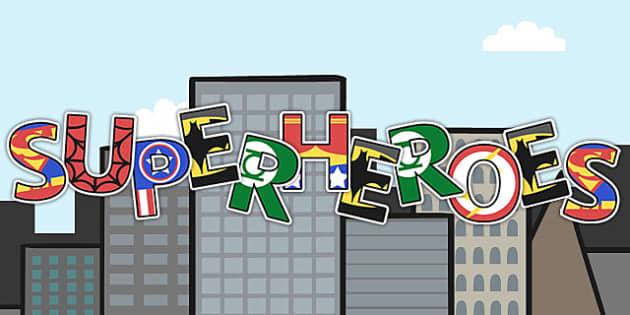 Superhero Display Lettering - superhero, display, lettering