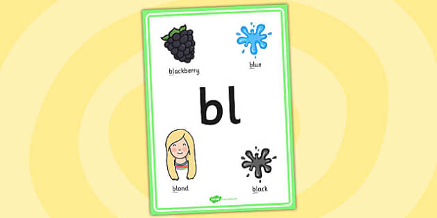 Phase 4 bl Initial Blend Poster - phase four, blends, literacy
