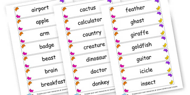 Common Nouns Cards - KS2 Nouns, Words and Vocabulary, Literacy, KS2 English