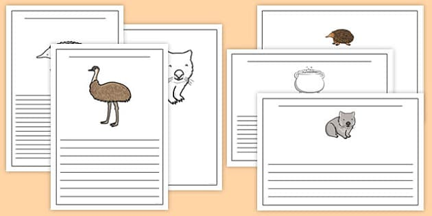 The Stew Writing Frames - australia, wombat stew, marcia k vaughan, story book, writing frames