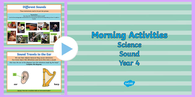 Year 4 Early Morning Science Activities Sound - activities y4