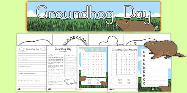 Groundhog Day Printable Pack - groundhog day, groundhog, tradition, celebration, printable, pack