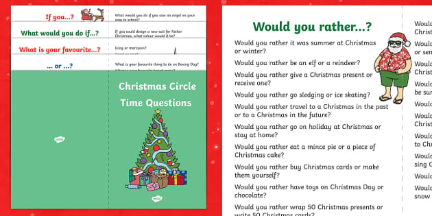 100 Christmas Circle Time Questions Booklet