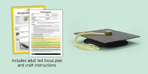 Graduation Cap EYFS Adult Input Plan and Craft Pack - graduation cap